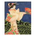 Geisha Needlepoint Canvas
