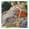 Two Classical Style Women Needlepoint Canvas