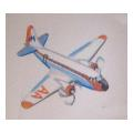 White Plane Needlepoint Canvas