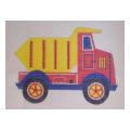 Red & Yellow Dump Truck Needlepoint Canvas