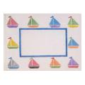 Sailboat Frame Needlepoint Canvas