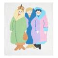 Ladies in Coats Ladies Series Needlepoint Canvas