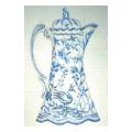 Blue & White Teapot Needlepoint Canvas