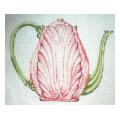Pink Carltonware Teapot Needlepoint Canvas