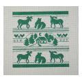 Green Bear Moose Sampler Needlepoint Canvas