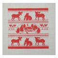 Red Bear Moose Sampler Needlepoint Canvas