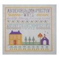 House and Barn Sampler Needlepoint Canvas