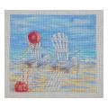 Beach Chairs Needelpoint Canvas