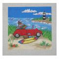 Dune Buggy Needelpoint Canvas