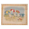Beach Umbrellas Needelpoint Canvas