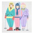 Skiing Ladies Series Needlepoint Canvas