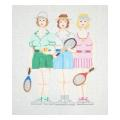 Tennis Ladies Series Needlepoint Canvas