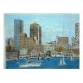 Boston Harbor Needelpoint Canvas