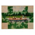 Swan Boat Brick Cover Canvas