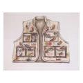 Fishing Vest Sports Needlepoint Canvas
