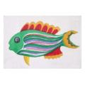 Green Fish Needlepoint Canvas