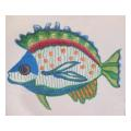 White Fish Needlepoint Canvas