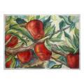 Strawberry Fruit & Leaf Needlepoint Canvas