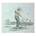 Golf Man Driving Sports Needlepoint Canvas