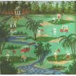 Golfing Sports Needlepoint Canvas