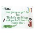 Golf Sign Needlepoint Canvas