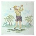 Lady Golfer Ladies Needlepoint Canvas