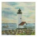 White Lighthouse Needelpoint Canvas