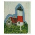 Red & White Lighthouse Needelpoint Canvas