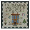 Yellow House Sampler Needlepoint Canvas