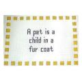 Pet Sign Needlepoint Canvas