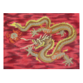 Red Dragon Needlepoint Canvas